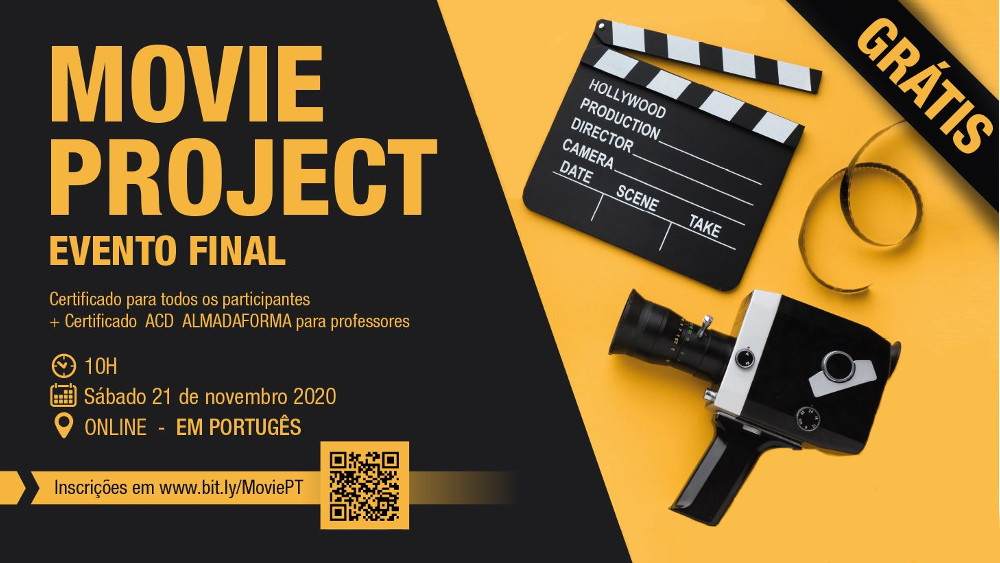 Evento final do projeto ERASMUS+ MOVIE online